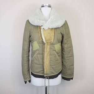 DIESEL Zip Up Jacket Faux Sherling S